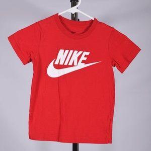 Red Nike Boys Youth Tee